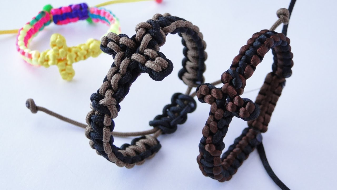 how to make macrame bracelet with sliding knot how to make a paracord macrame cross bracelet by 8574