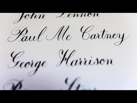 The Beatles member  name writing