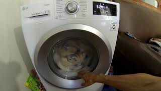 стиральная машина LG 7 кг. установка и стирка большого пухового одеяла