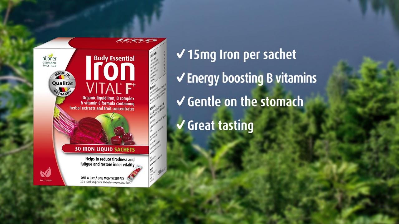 Hubner Body Essential Iron Vital Supplements Australia 2018