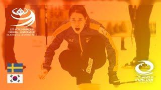 Sweden v Korea - round robin - LGT World Women's Curling Championships 2019