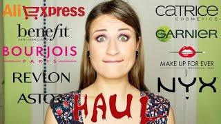 HAUL: Compras MAQUILLAJE Benefit,MUFE,Revlon,Bourjois,Astor,Catrice,Nyx,Garnier,Aliexpress