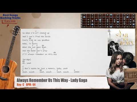 Lady Gaga Always Remember Us This Way Chord Lirik