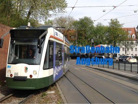 stra enbahn augsburg tramway augsburg youtube. Black Bedroom Furniture Sets. Home Design Ideas