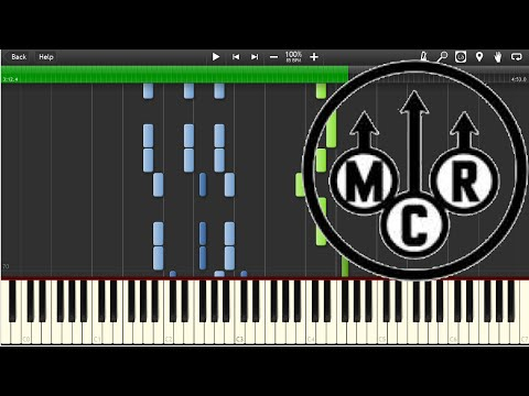 My Chemical Romance  Disenchanted  Piano tutorial Synthesia