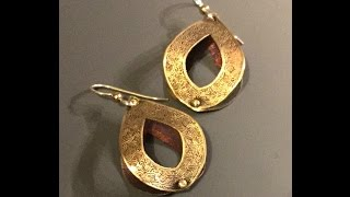 Free 3D Earring Metal Clay Project