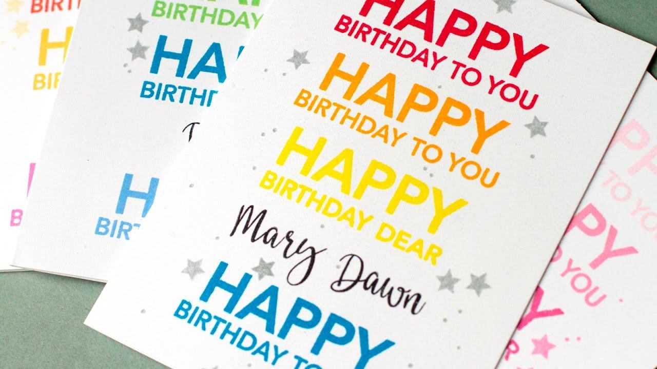 personalized birthday cards envelopes youtube