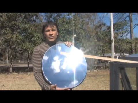 Make A Parabolic Mirror The Cheap Way Paraboloid Diy