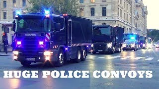 Compilation of Extremely Large Police Truck Convoys