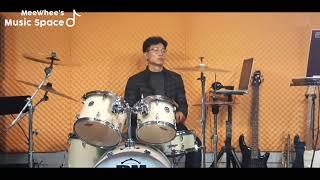 젊은미소 드럼연주/김상배   늑대와여우 음악연습실