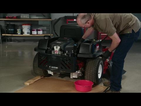 How to Change the Oil on a Toro® Zero Turn Mower - YouTube