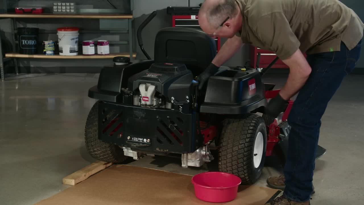 How to Change the Oil on a Toro® Zero Turn Mower  YouTube