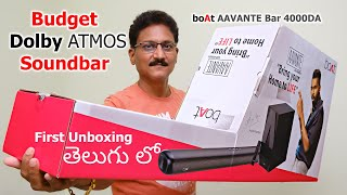 Budget Dolby ATMOS Soundbar boAt AAVANTE Bar 4000DA Unboxing & Review in Telugu...😱