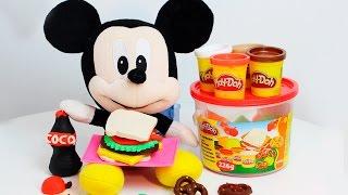 Brincando de Massinha Play Doh Picnic Bucket Play Dough - Lanchinho do Mickey com BIA LOBO