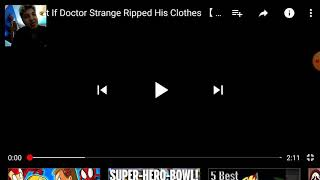 If doctor strange rip his clothes cartoon hooligans reaction