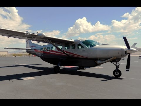 "GoPro Cessna 208B Caravan ""Right Seat"" Henderson Executive Airport to Grand Canyon"