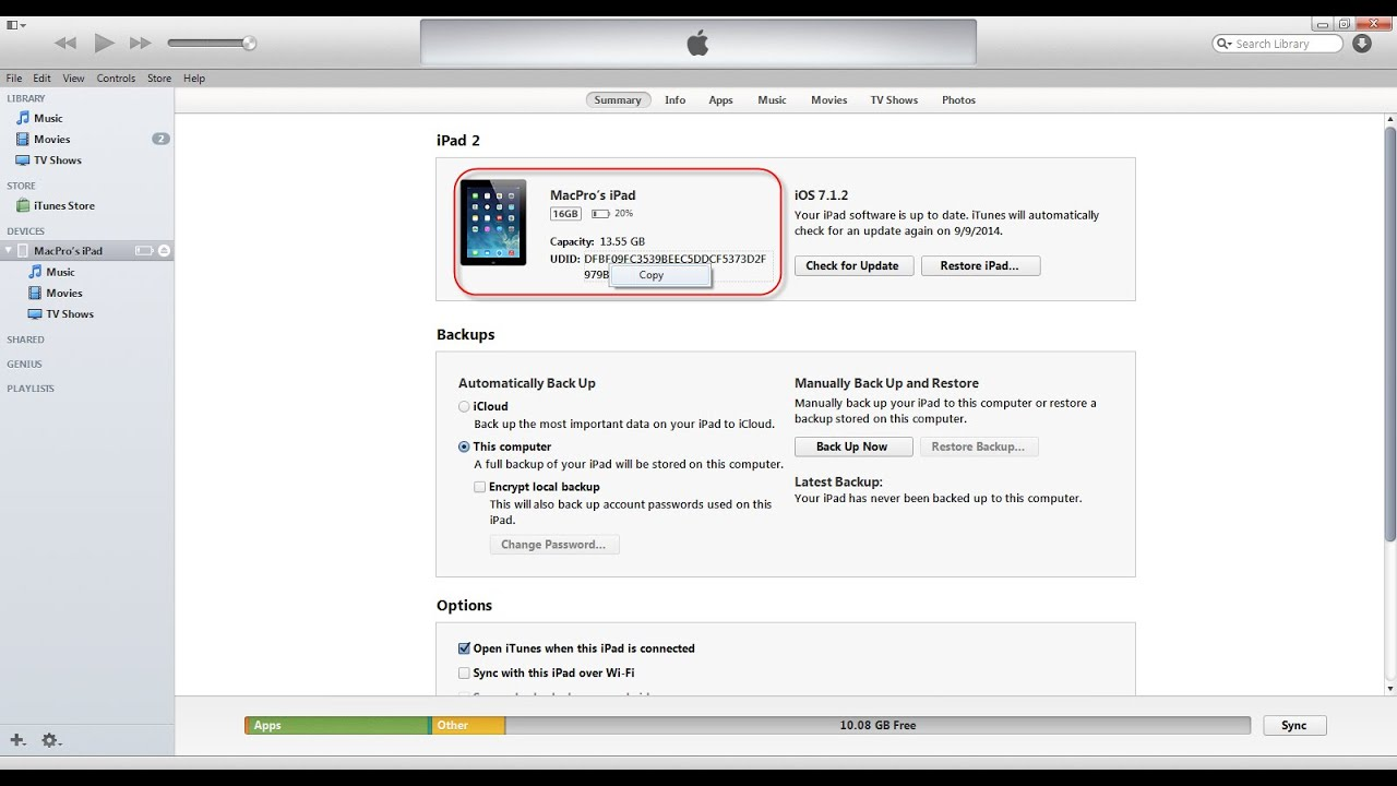 Finding Your iOS Device iPhone or iPad Unique Identifier (UDID)