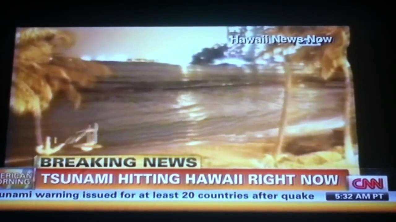 tsunami hits hawaii march 11 2011 hd wave