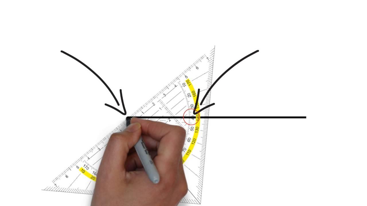 Winkel zeichnen - Wir zeichnen Winkel mit dem Geodreieck - YouTube