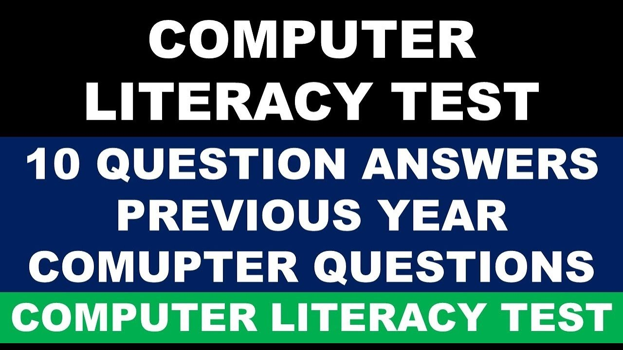 computer literacy test questions and answers in english for clt and cpt exam