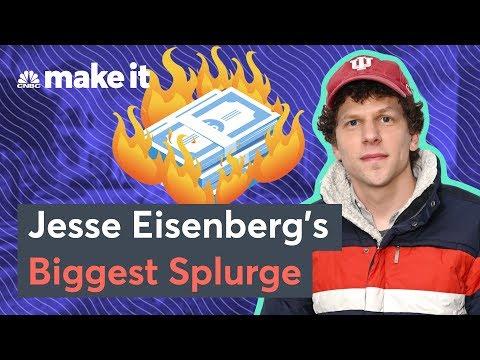 Actor Jesse Eisenberg Reveals His Biggest Splurge