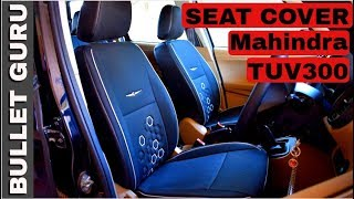 Mahindra TUV300 Seat Cover - Awesome Black