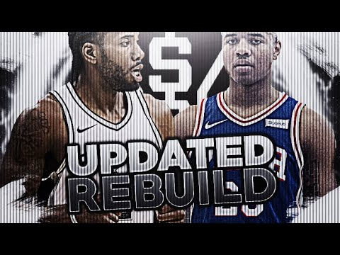 TRADING KAWHI LEONARD! UPDATED SPURS REBUILD! NBA 2K18