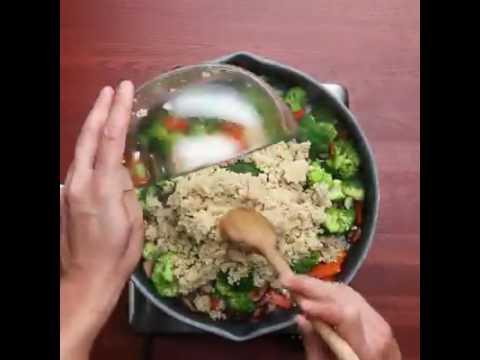 Quinoa frita con verduras mixtas fit xmas youtube - Cocinar quinoa con verduras ...