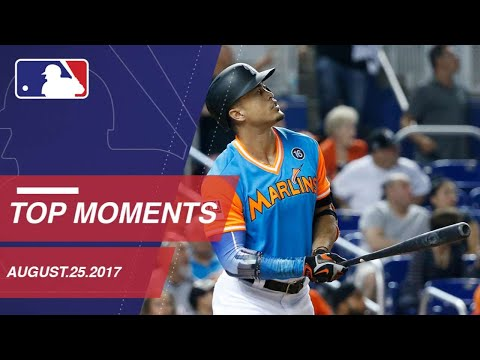Stanton's march towards 50 HRs, nine moments from around the Majors: 8/25/17