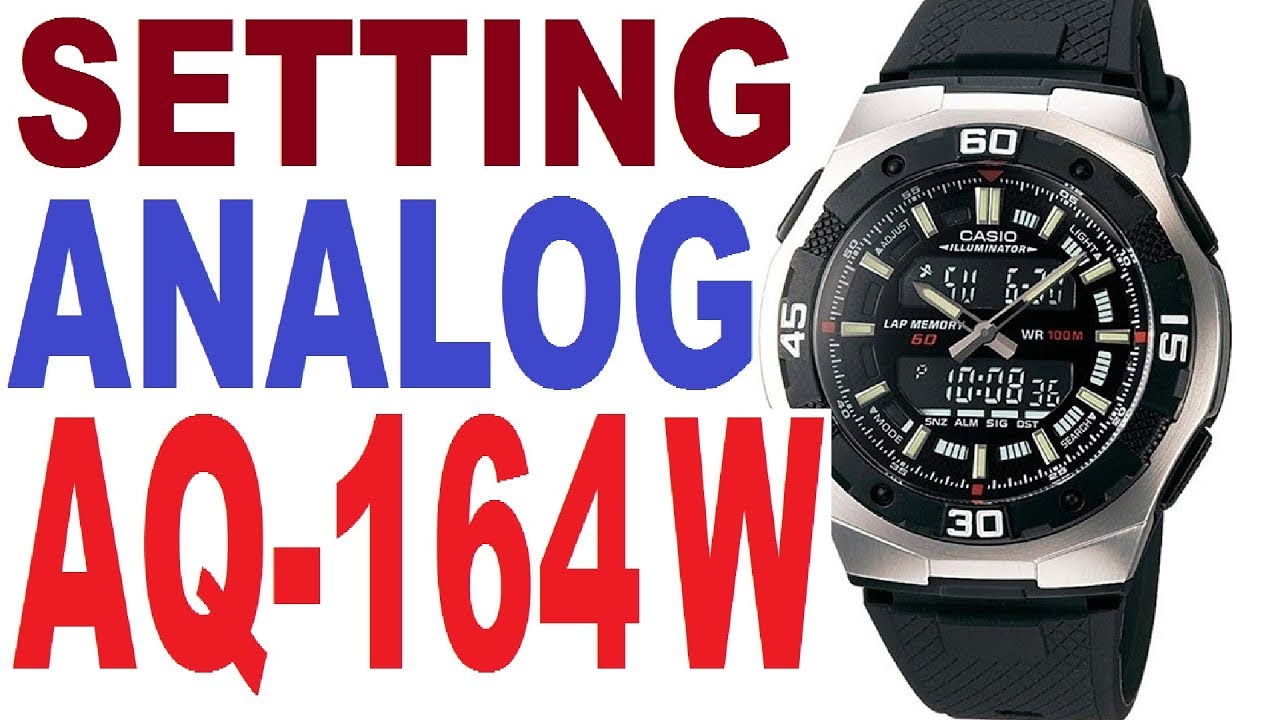 casio aq 164w manual 4396 to set analog time youtube rh youtube com Casio Chronograph Manuals Casio Keyboard Owner's Manual
