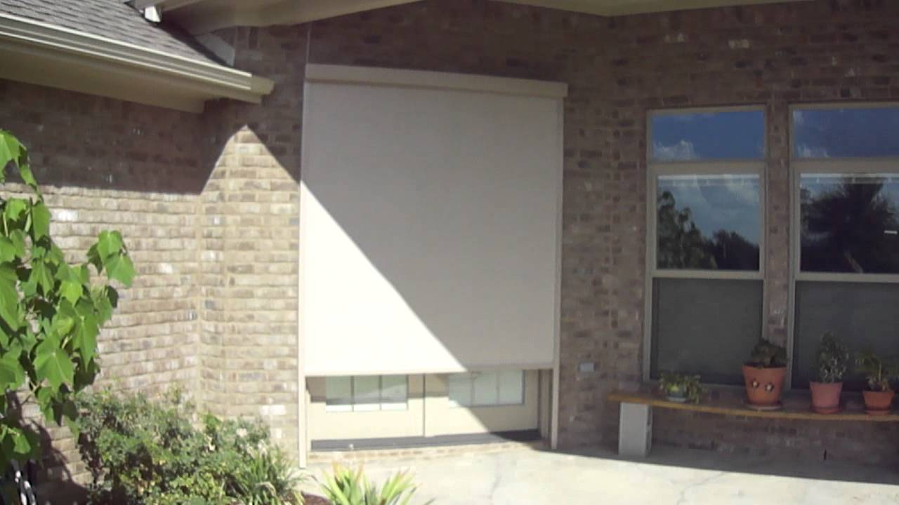 Exterior Motorized Shade by Cortina Shading Systems - YouTube