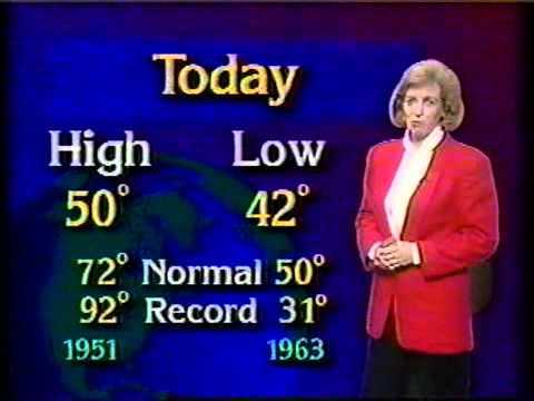 WDRB-TV 1994: 5/1/94 10PM Tara Bassett weather