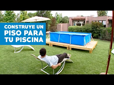 C mo construir un piso para la piscina de lona youtube for Ideas para decorar alrededor de la piscina