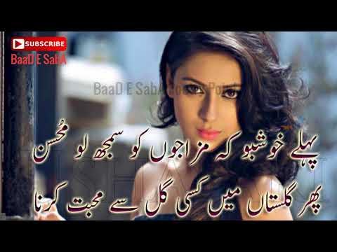Heart Touching Poetry|2 Lines Shayari|Mohabbat Poetry|Part-102|Urdu/Hindi Sad Poetry|By Hafiz Tariq