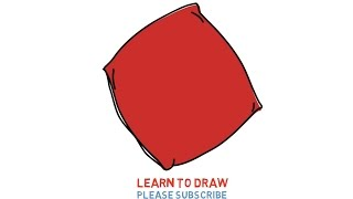 Easy Step For Kids How To Draw a Pillow