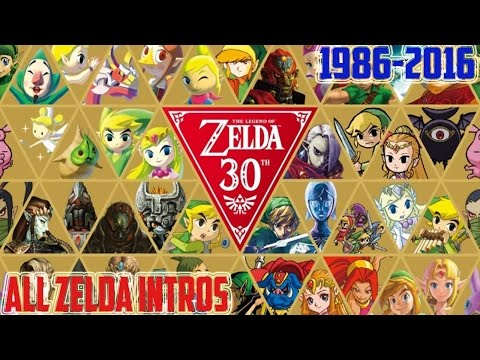 ALL THE LEGEND OF ZELDA INTROS (1986-2016 [NES, SNES, GB, GBC GBA, N64, GC,DS,WII,3DS, WIIU, NX])