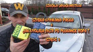 Szkoła Druciarstwa Wymiana Paska Bmw E60 Filtr  po Płukance Ropą Część 1  Wazzup :)