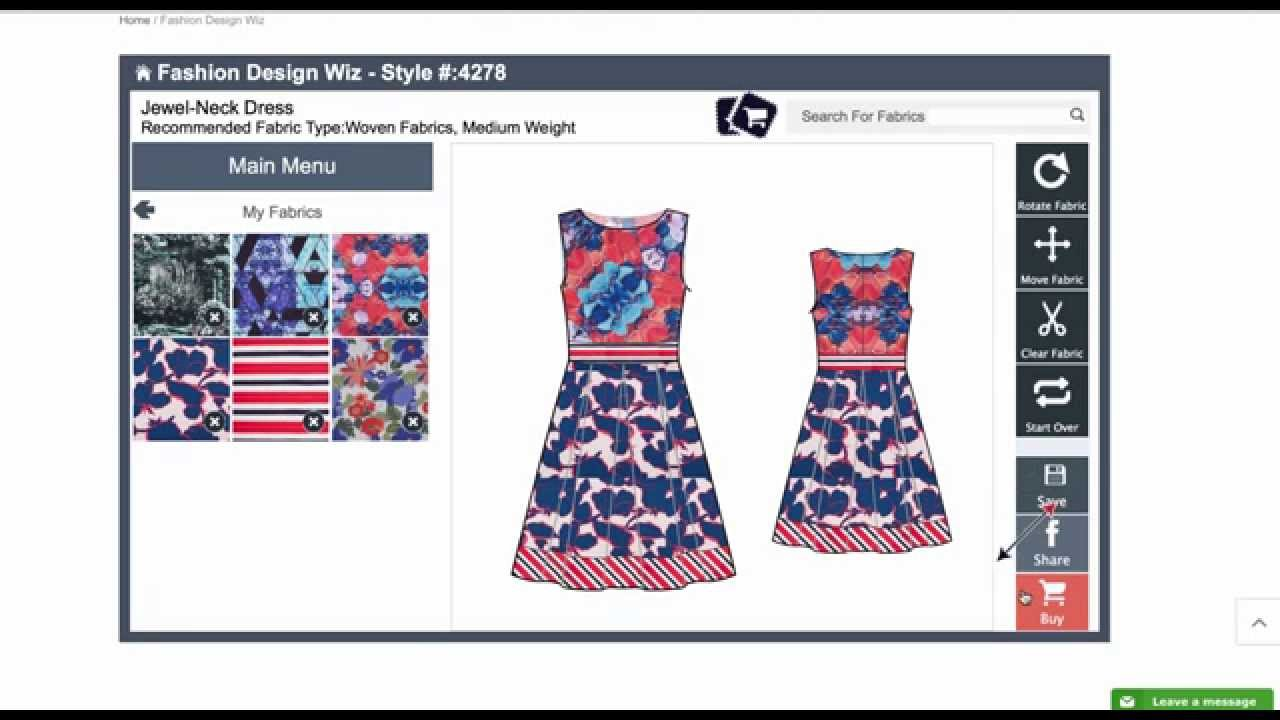 Online Fashion Design Software (A New Advanced Version Is