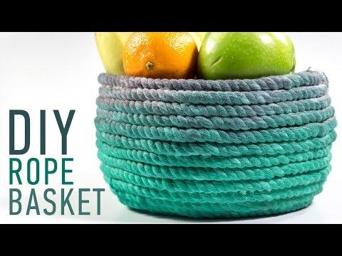 Make easy Rope Basket at Home: DIY Ideas for You | iDIYa #4