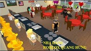 ROBLOX | Hưng quyết định mở nhà hàng nấu ăn kiếm tiền - Restaurant Tycoon