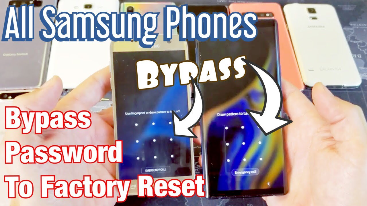 How to Bypass Password/Pin Code to Factory Reset for ALL SAMSUNG GALAXY  PHONES