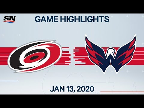 NHL Highlights | Hurricanes vs. Capitals – Jan. 13, 2020