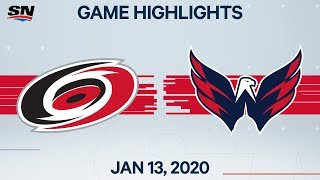 NHL Highlights | Hurricanes vs. Capitals - Jan. 13, 2020