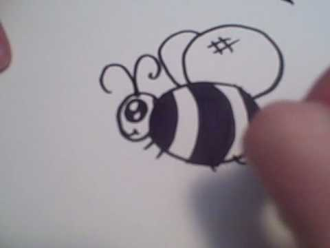 How To Draw A Cartoon Bumble Bee Youtube