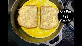 One Pan Egg Sandwich Breakfast Hack Recipe Ready in 5 Minutes  #Stayhome #withme