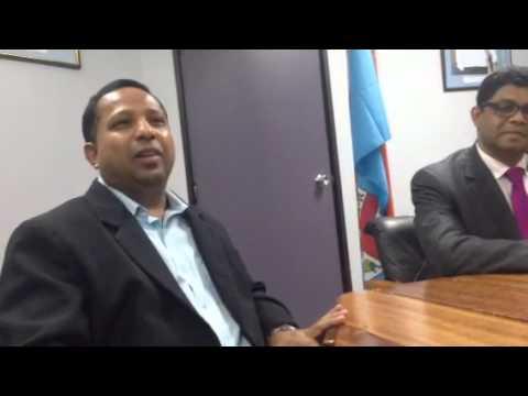 FHL CEO & Fiji TV board member Nouzab Fareed at live 7s press conference