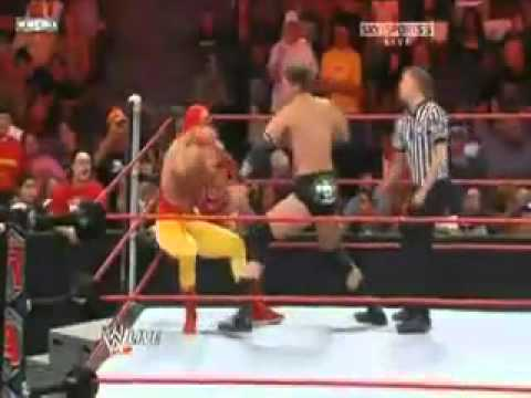 WWE Raw 10.13.2008- Haas Hogan vs JBL