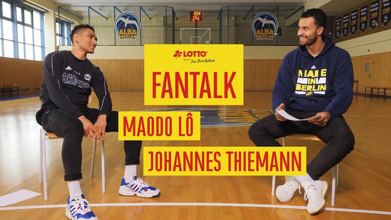LOTTO Berlin Fantalk: Maodo Lô & Johannes Thiemann beantworten Fragen der ALBA-Fans
