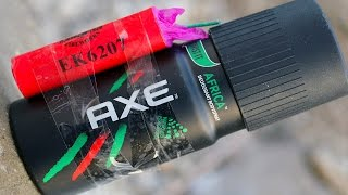 Firecrackers vs Axe Deodorant - Very Dangerous Experiment thumbnail