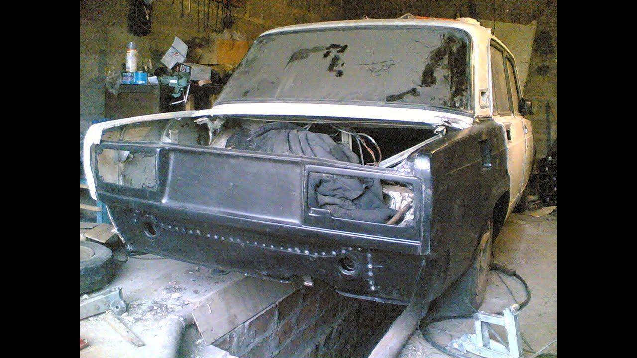 КУЗОВНОЙ РЕМОНТ и покраска в чёрный матовый ВАЗ 2105 / LADA BODY REPAIR